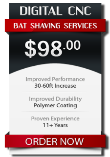Bat Shaving Services: Improved Performance, Durability, Proven Experience